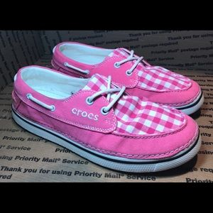 Women's Pink Loafer Crocs Must See! Size 10
